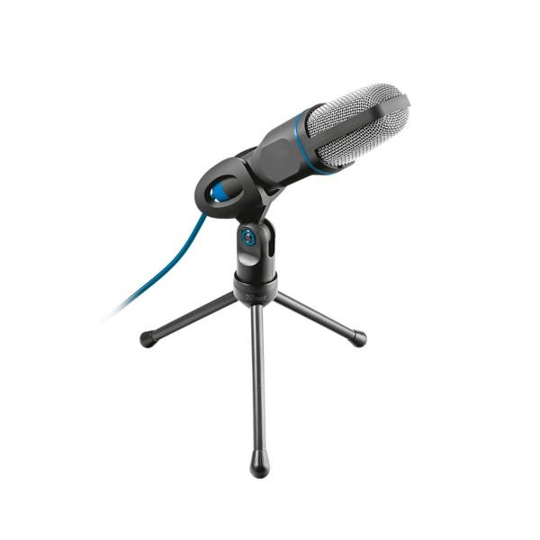 Trust mico usb microphone micrófono usb conexión 3,5 mm y trípode con prestaciones de estudio