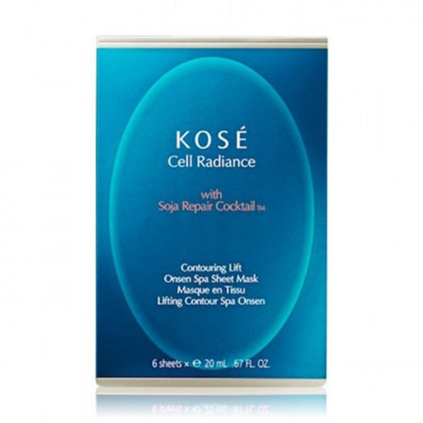 Kose cell radiance mascarilla onsen spa soja repair cocktail tm 20ml