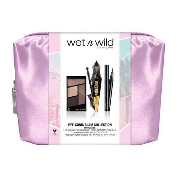 Wetn wild eye-conic glam collection sombra de ojos quad 1un + lash renegade mascara 1u + pro-line eyeliner 1u