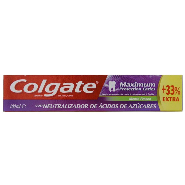 Colgate maximun dentifrico menta fresca + 33% extra 75ml