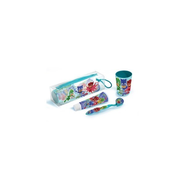 PJMASKS ESTUCHE + VASO + DENTíFRICO + CEPILLO DENTAL