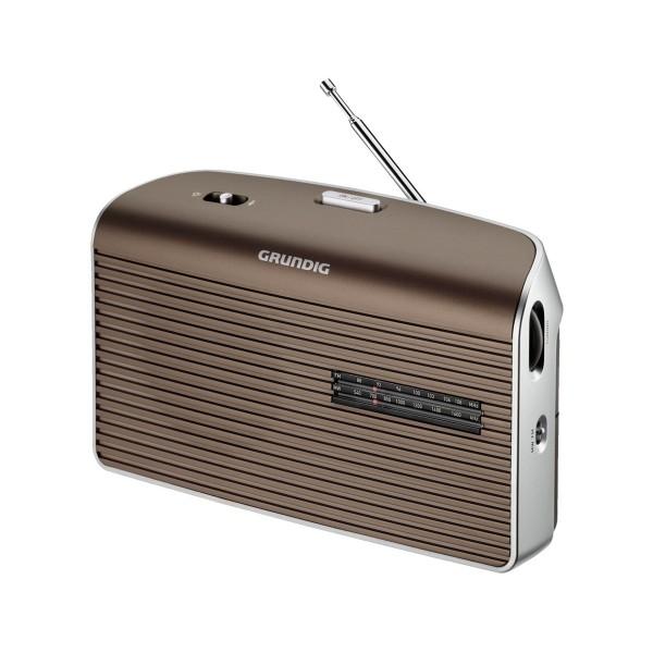 Grundig music 60 marrón radio am/fm de sobremesa portátil con altavoz