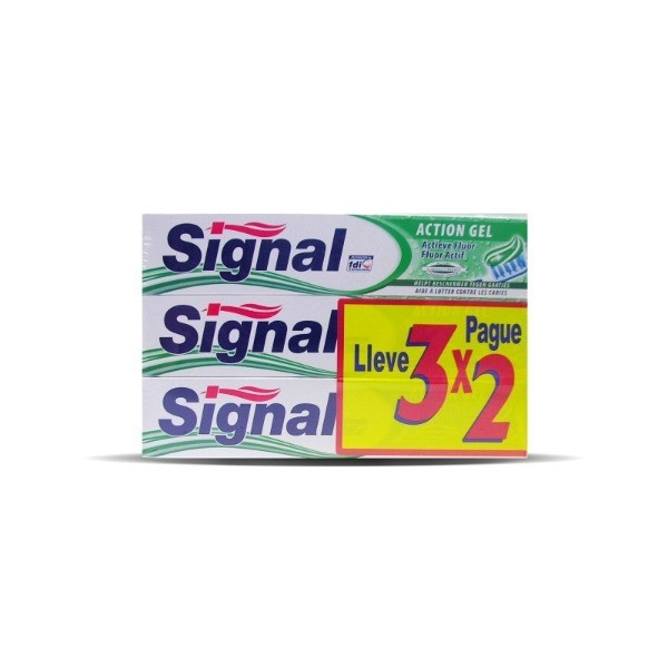 Signal dentífrico GEL FRESCO 75 ml 3 x 2