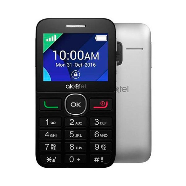 Alcatel 2008g plata móvil 2g / teclado numérico / 2.4'' / 16mb / 8 mb ram / 2mp