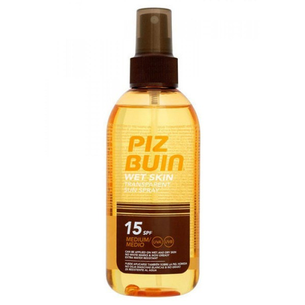 Piz buin wet skin transparent sun spray spf15 medium 150ml
