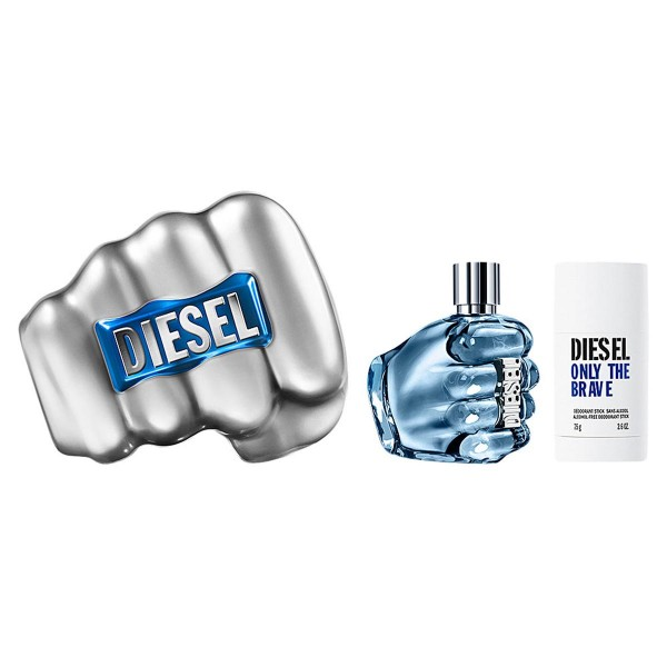 Diesel only the brave eau de toilette 125ml vaporizador + desodorante stick 75gr
