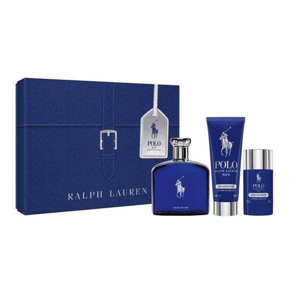 Ralph lauren polo blue eau de parfum 125ml vaporizador + gel de baño 100ml + desodorante