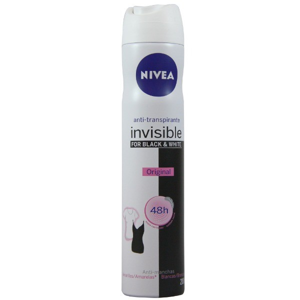 NIVEA Desodorante Spray   Invisible Black & White 200 ml