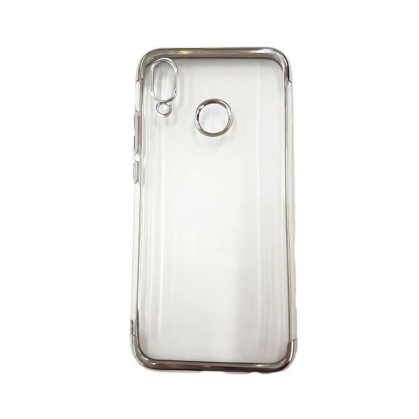 Jc carcasa protectora transparente huawei p20 lite borde de metal