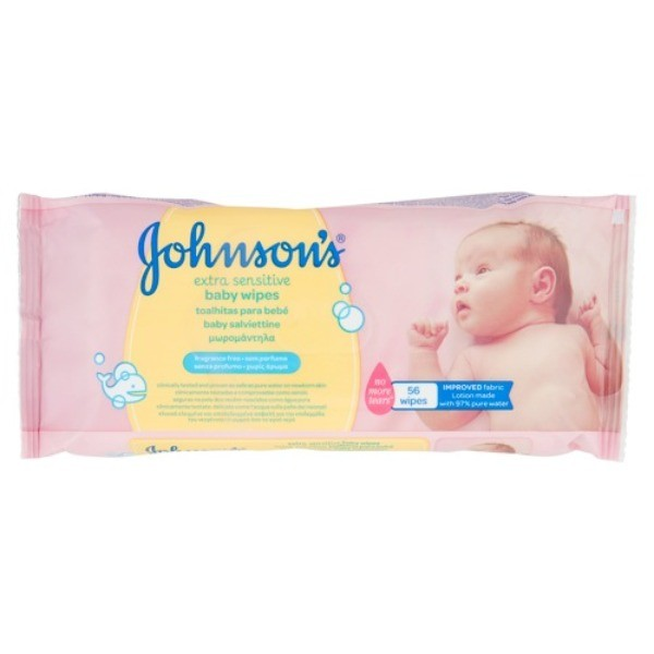 JOHNSONS TOALLITAS Extra Sensitive 56 u