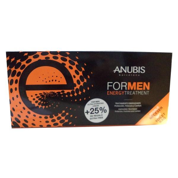 Anubis for men energy crema ultra hydrating 75ml + energizer eye contour 18ml + revitalizing exfoliating gel 20ml + neceser 1u.