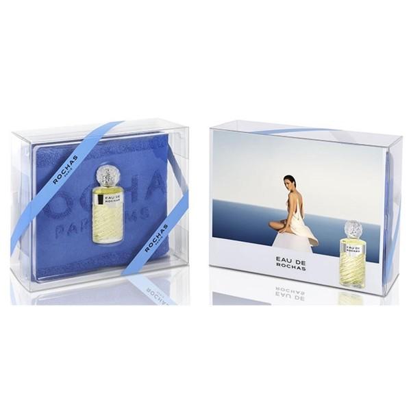 Rochas eau de rochas eau de toilette 100ml vaporizador + toalla azul