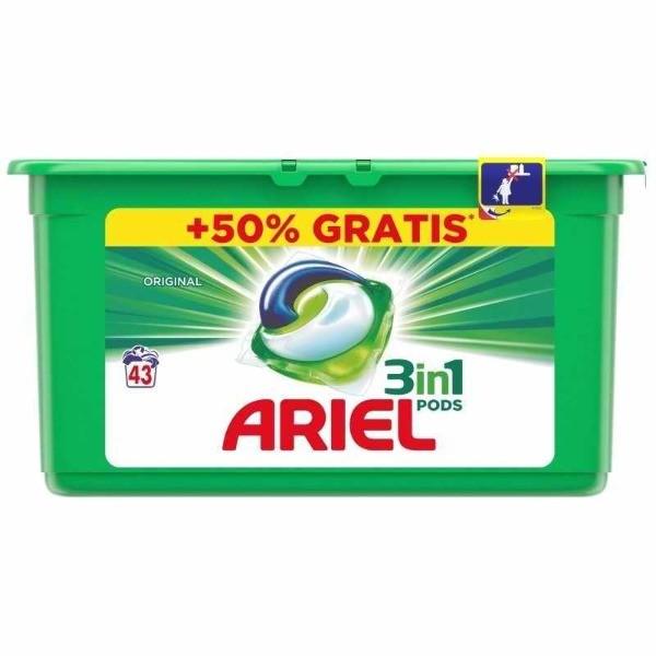 ARIEL detergente tabs verde 3en1 28 u + 50% GRATIS