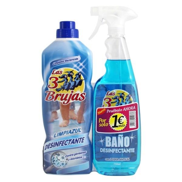 LAS TRES BRUJAS Limpiahogar  1 l  + Antical  Baño  Desinfectante  750 ml