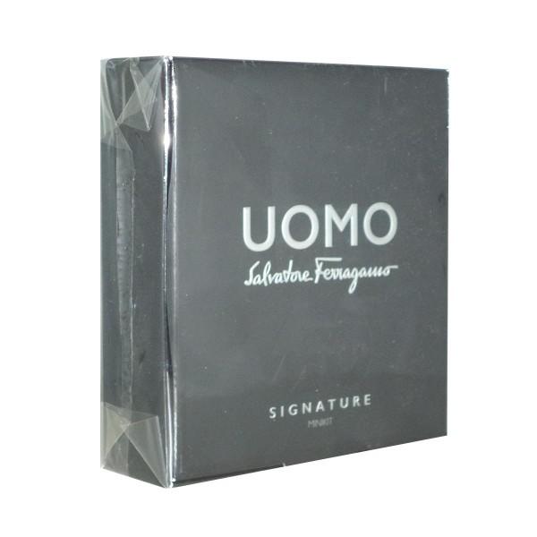 Salvatore ferragamo uomo signature eau de parfum 5ml + gel de baño 50ml