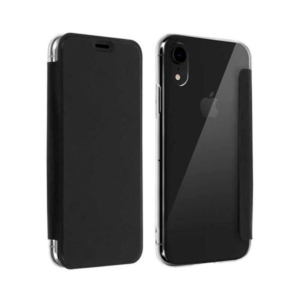 Akashi funda folio transparente negro apple iphone xr
