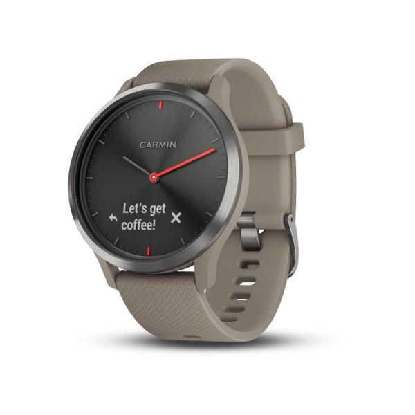 Garmin vivomove hr sport negro beige reloj inteligente híbrido con control de frecuencia cardíaca y bluetooth