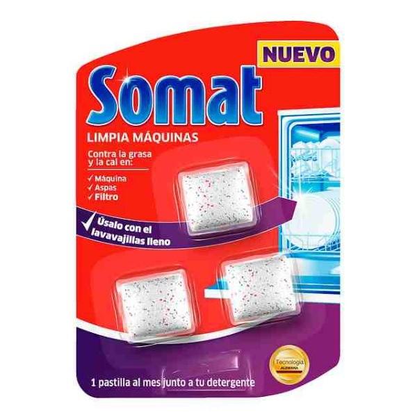 SOMAT Limpia Máquinas Lavavajillas Blister para 3 Meses