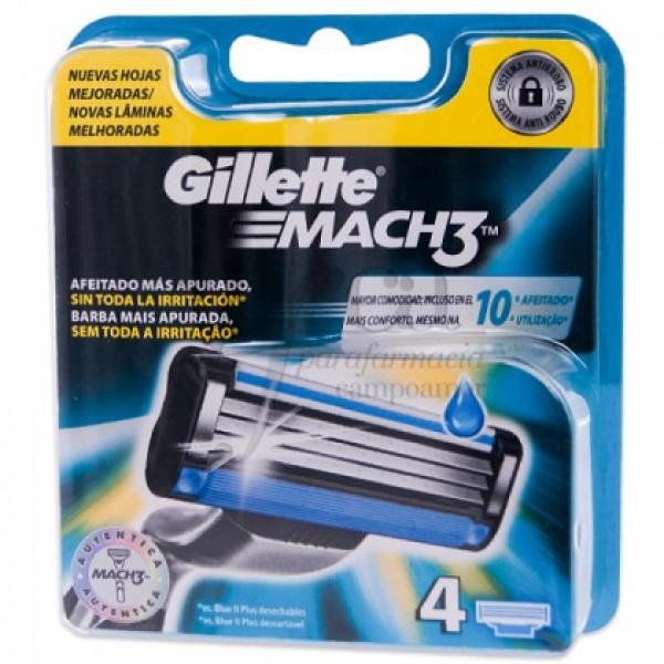 GILLETTE MACH3 RECAMBIO 4 UNI