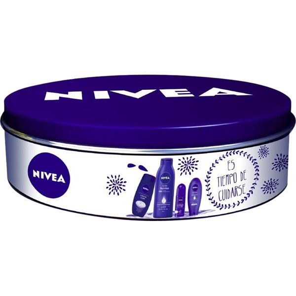 Nivea Estuche de Regalo  : Body Milk Nutritivo 400 ml  + Deo Roll 50 ml + Crema de manos 100 ml  + Gel de ducha 250 ml
