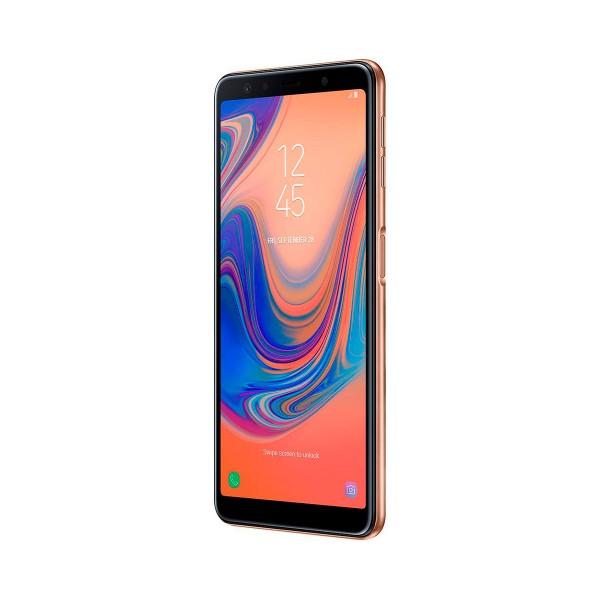 Samsung galaxy a7 (2018) dorado móvil 4g dual sim 6.0'' super amoled fhd+/8core/64gb/4gb ram/24mp+5mp+8mp/24mp