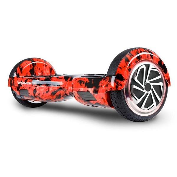 Whinck hoverboard fuego scooter eléctrico con altavoz bluetooth 15km/h batería lg 15km autonomía mochila incluida