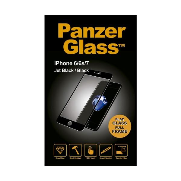Panzerglass protector cristal ultraresistente iphone 7/8 marco cromado negro