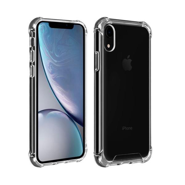 Akashi carcasa trasera transparente resistente apple iphone xr angulos reforzados