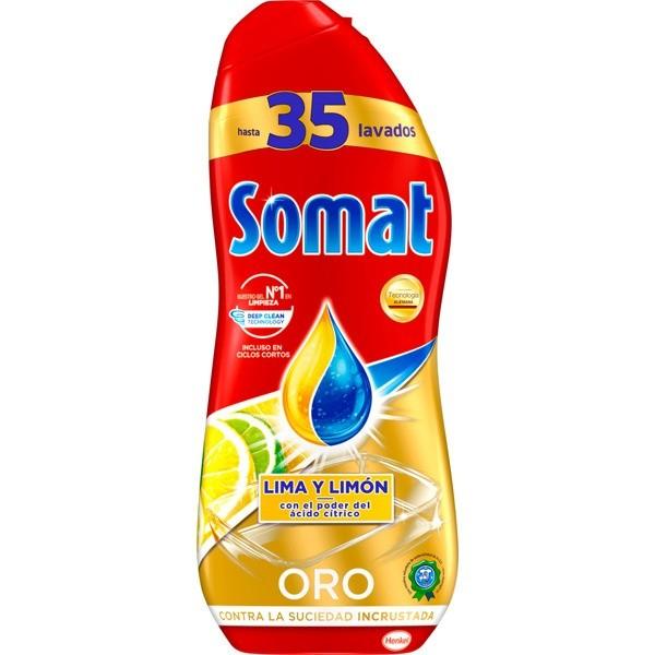 Somat detergente lavavajillas Lima y Limón  35 lavados 630 ml