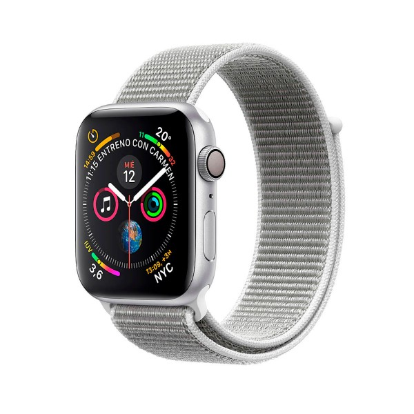 Apple watch series 4 nike+ plata con correa sport blanco polar reloj 40mm smartwatch 16gb wifi bluetooth gps pantalla oled