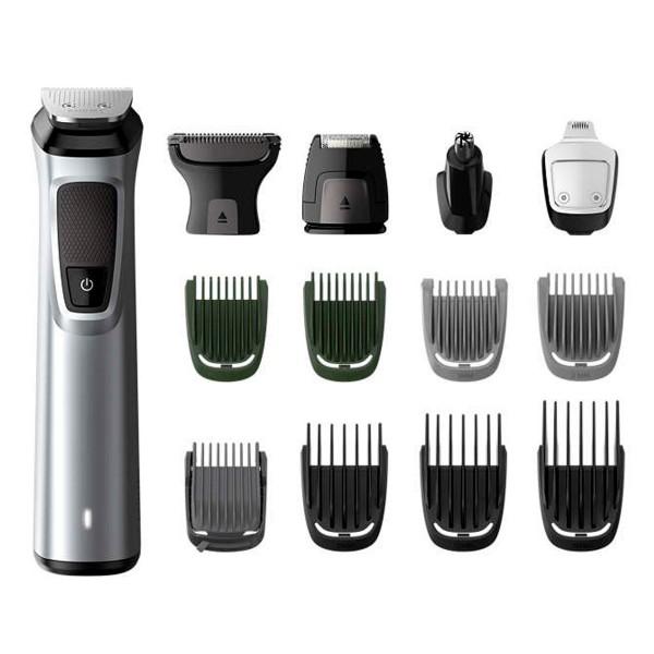 Philips mg7720 multigroom series 7000 cortapelo impermeable cuerpo cara cabello 14 en 1 cuchillas dualcut incluye funda de viaje