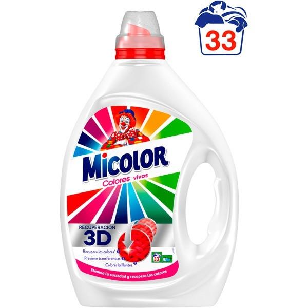 Micolor detergente  Gel Colores Vivos 33 dosis
