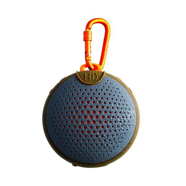 Boompods aquablaster gris y naranja altavoz portátil 8w rms bluetooth mosquetón integrado impermeable ipx7
