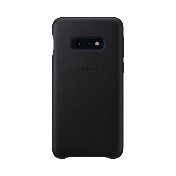 Samsung leather cover cuero negro galaxy s10e funda trasera