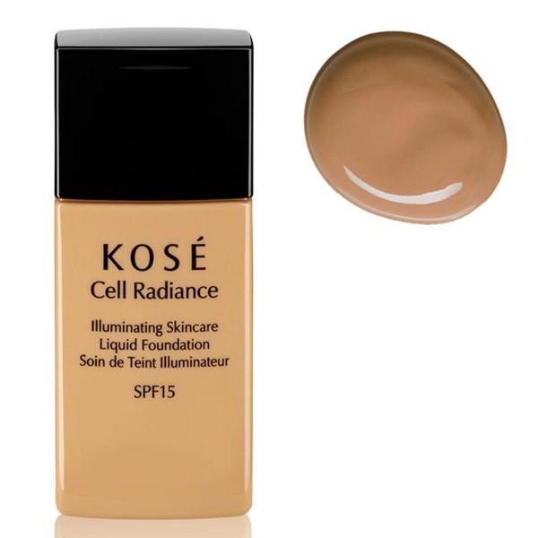 Kose cell radiance illuminating liquid foundation 203 deep beige 30ml