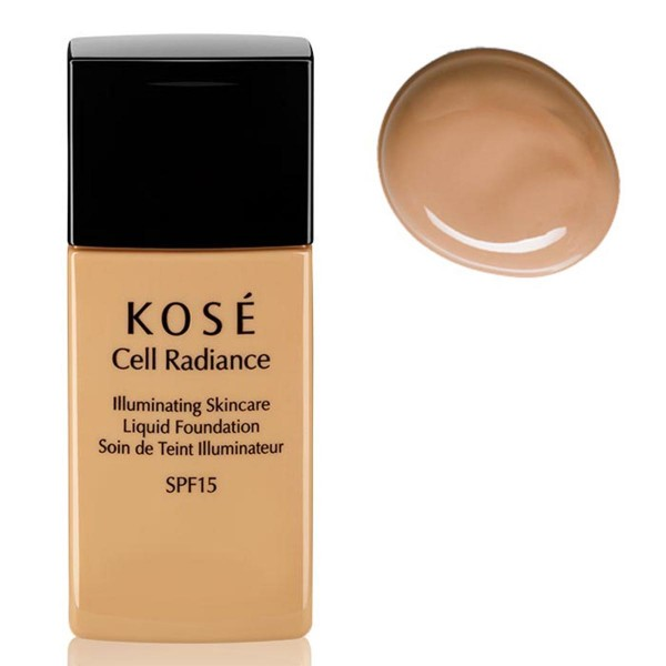 Kose cell radiance illuminating liquid foundation 202 medium beige 30ml