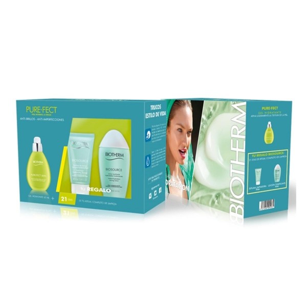 Biotherm aquasource pureness crema 50ml + limpiadora 50ml + locion corporal 100ml