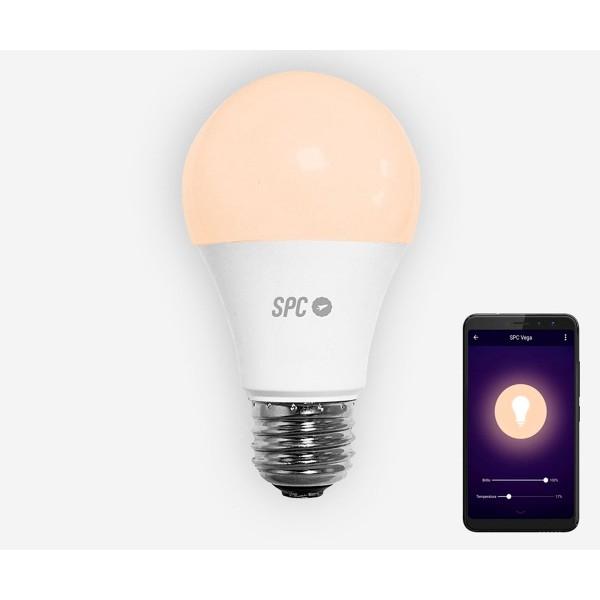 Spc 6104b bombilla led wi-fi inteligente con luz regulable rgb controlable remotamente con aplicación móvil
