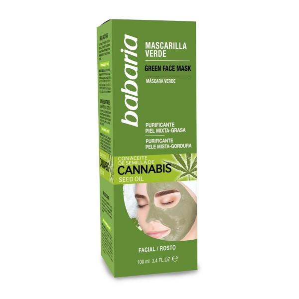 Babaria semilla de cannabis mascarilla verde 100ml