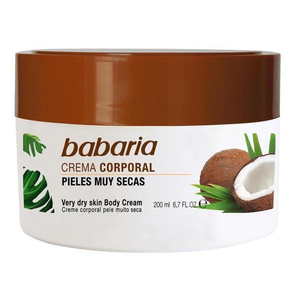 Babaria coco crema corporal piel muy seca 200ml