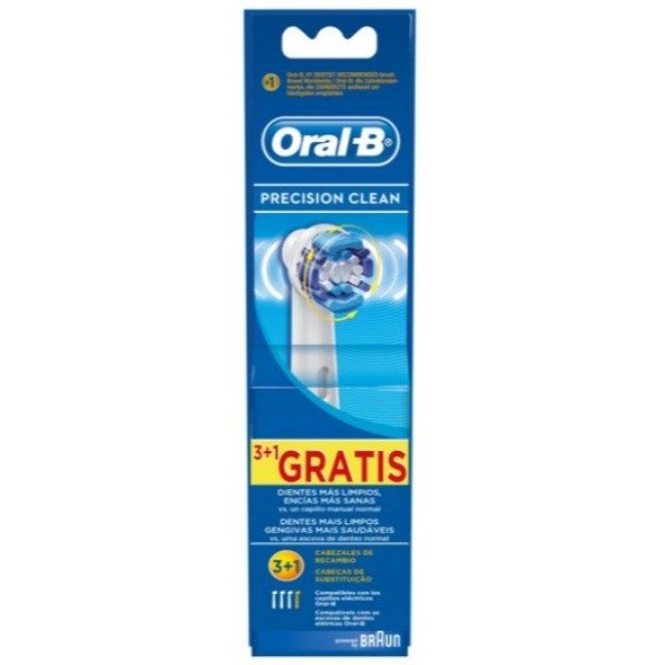 Oral -B Precision Clean cabezales Recambio 3 + 1 gratis