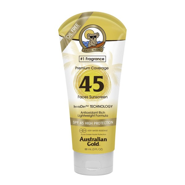 Australian gold premium coverage crema facial spf45 88ml