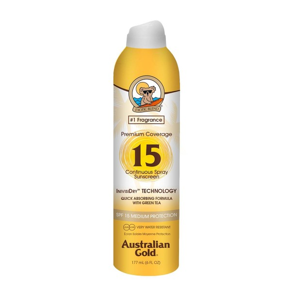 Australian gold premium coverage spray spf15 177ml vaporizador