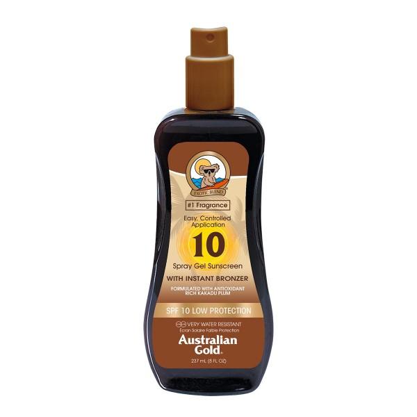 Australian gold bronzer spray gel spf10 237ml vaporizador