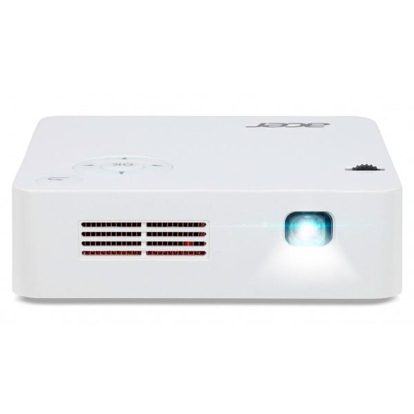 Acer c202i mini proyector blanco 250 lúmenes dlp led wifi wvga portátil con batería hdmi usb