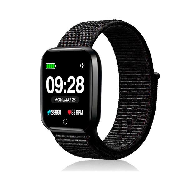 Innjoo negro metal sportwatch tft 1.33'' reloj inteligente deportivo bluetooth frecuencia cardíaca y presión sanguínea