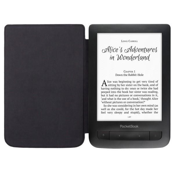 Pocketbook basic touch 2 negro e-book libro electrónico 6'' e-ink wifi 8gb y microsd con tapa protectora