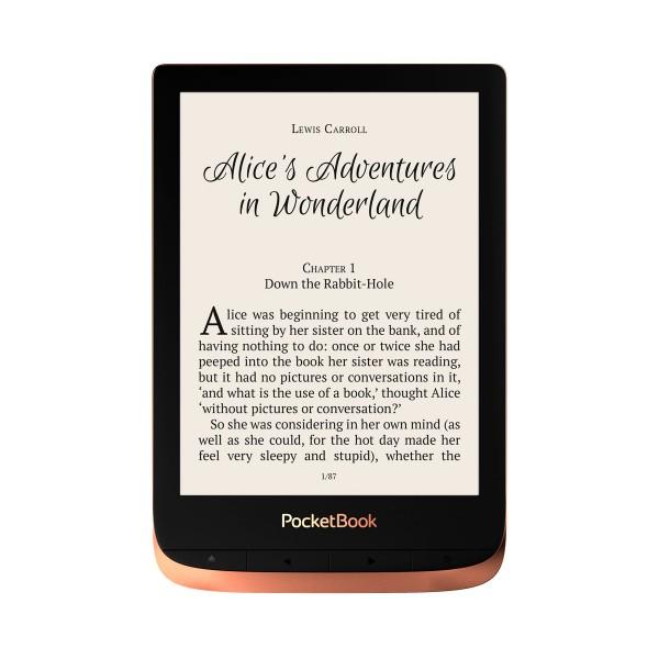 Pocketbook touch 3 hd cobre picante e-book libro electrónico 6'' e-ink wifi 16gb y microsd