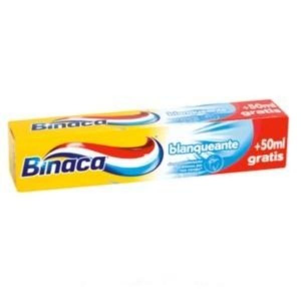 Binaca dentífrico  blanqueante 125 ml. (50 ml gratis )