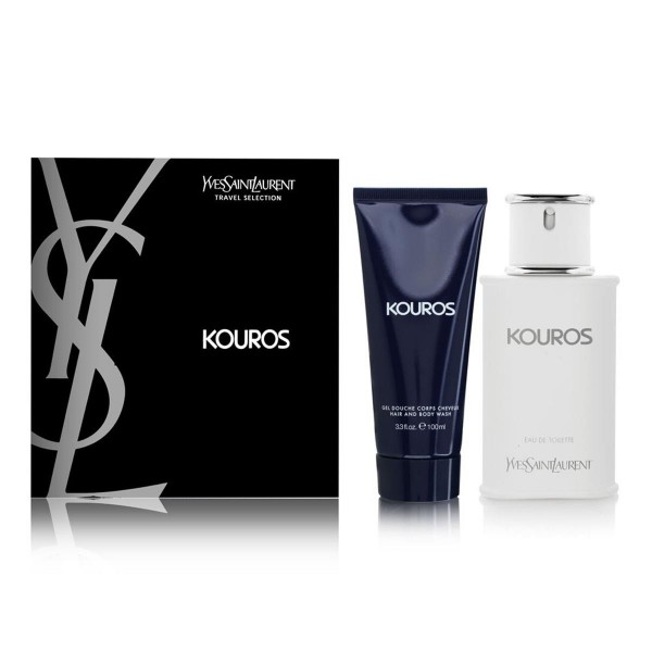 Yves saint laurent kouros eau de toilette 100ml + perfumed body lotion 100ml